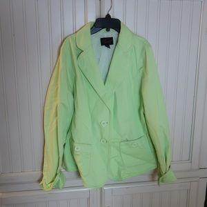 Torrid lime green blazer Plus Size 1